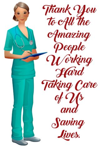 Nurses Save Lives Thanks Covid19 Postcards