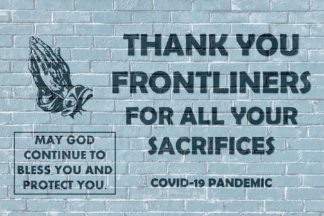 Thank You Frontliners Covid 19 Postcards