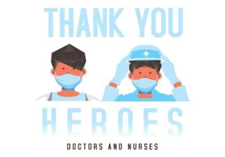 Thank You Heros Doctors & Nurses Postcards Covid 19