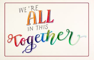 Were All in this Together Covid 19 Postcards